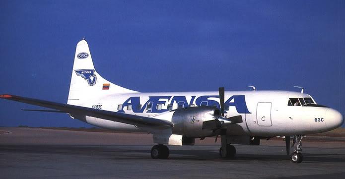 Nuestras aeronaves Cv-58010