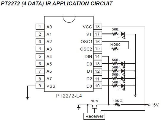[Réalisation] télécommande infrarouge avec codeur/décodeurs PT2262/PT2272 Recept10