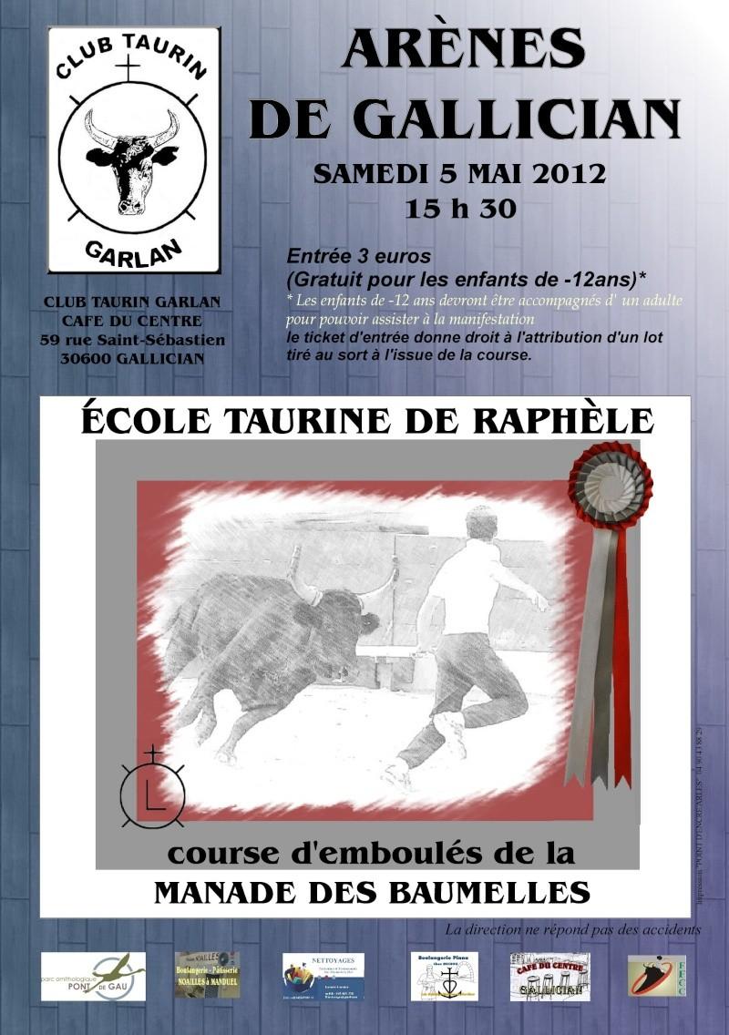 LE CLUB TAURIN GARLAN PRESENTE LA MANADE DES BAUMELLES Affich11