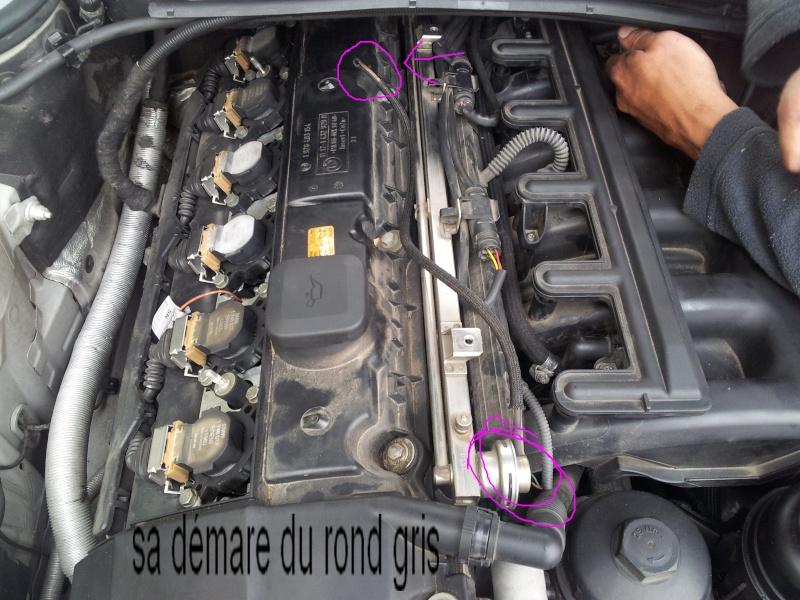 [BMW 323 ci E46] Durit qui se balade 20120512