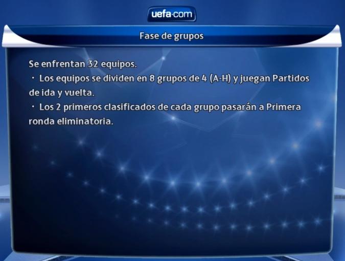 Reglas CHAMPIONS LEAGUE - /ZONA DE GRUPOS/ Reglas12