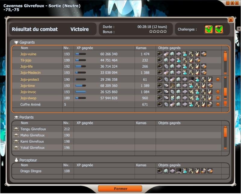 record d'xp en tengu team Jojo Record10