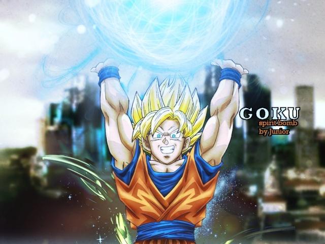 Spirit bomb Goku Beast12