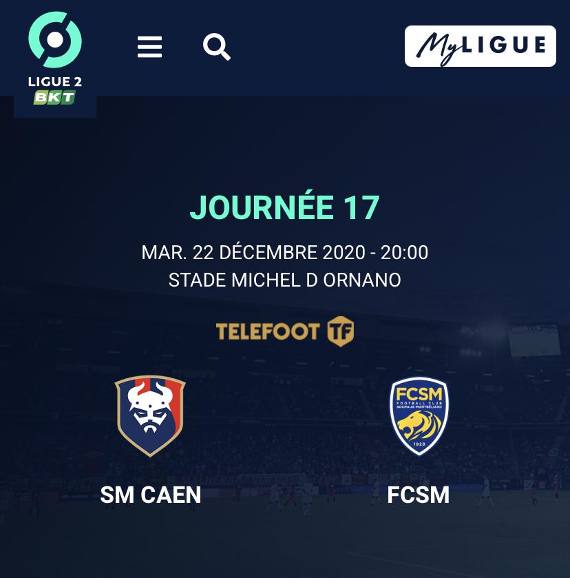 [17e journée de L2] SM Caen - Sochaux 12c21110