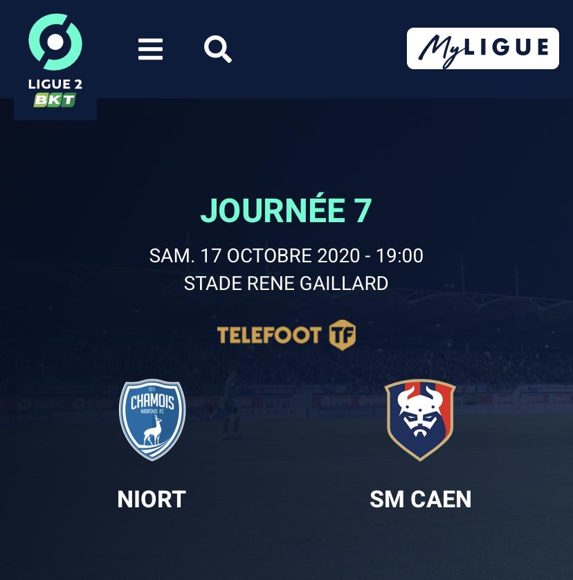 [7e journée de L2] Niort - SM Caen 15320810