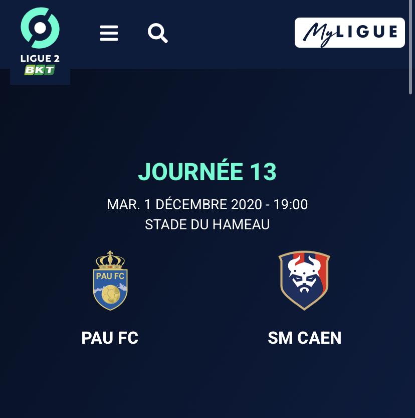 [13e journée de L2] Pau FC - SM Caen 1f9a3410