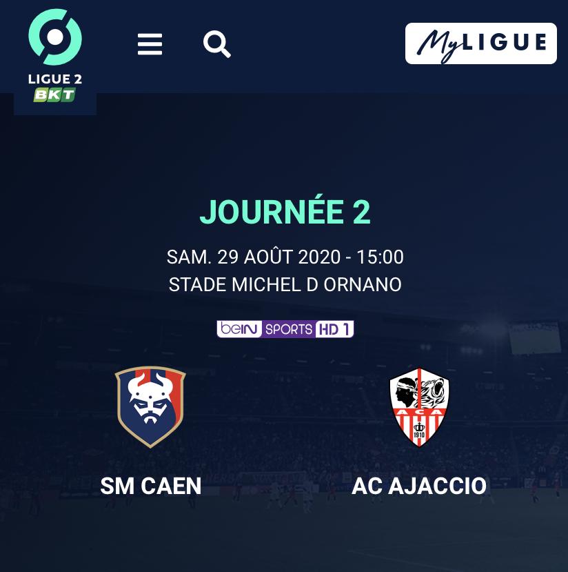 [2e journée de L2] SM Caen - AC Ajaccio 2a001d10
