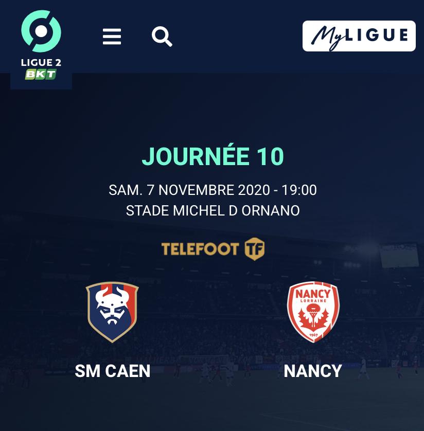 [10e journée de L2] SM Caen - AS Nancy Lorraine 5bd8f610