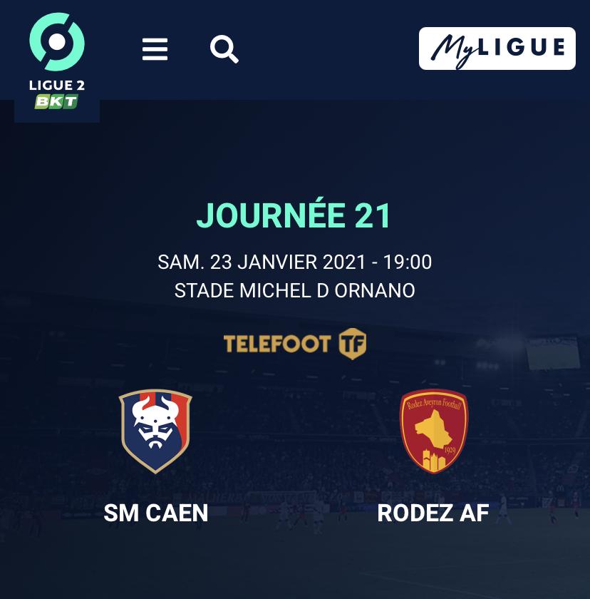 [21e journée de L2] SM Caen - Rodez  96281310