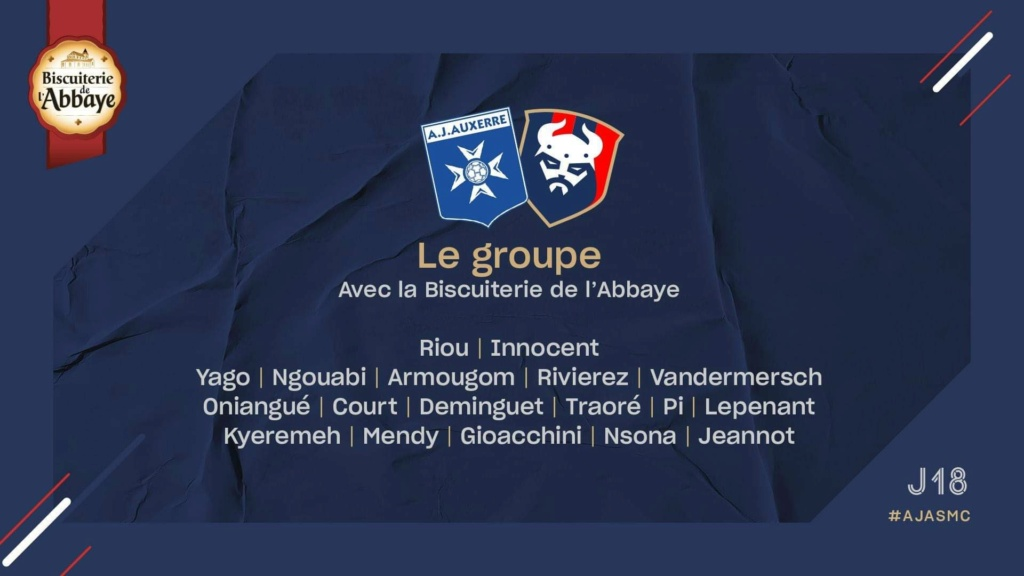 [18e journée de L2] AJ Auxerre - SM Caen 99f2f610