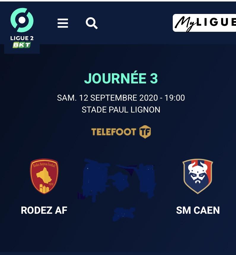 [3e journée de L2] Rodez - SM Caen A6346810
