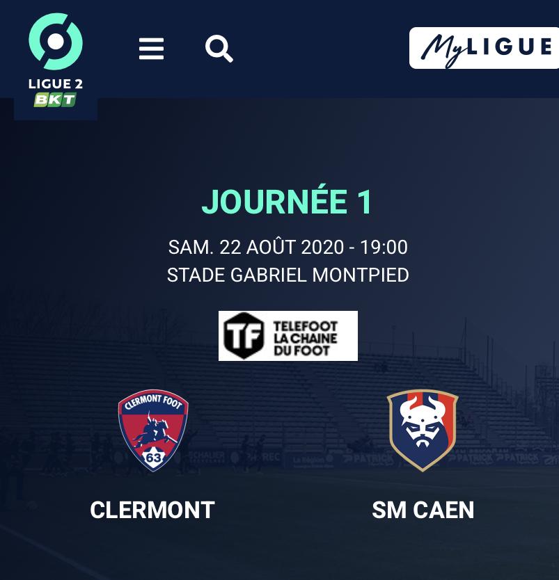 [1ère journée de L2] Clermont Foot 0-0 SM Caen B4fc9110