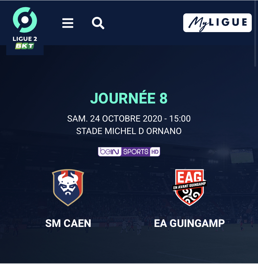 [8e journée de L2] SM Caen - EA Guingamp B7ffc710