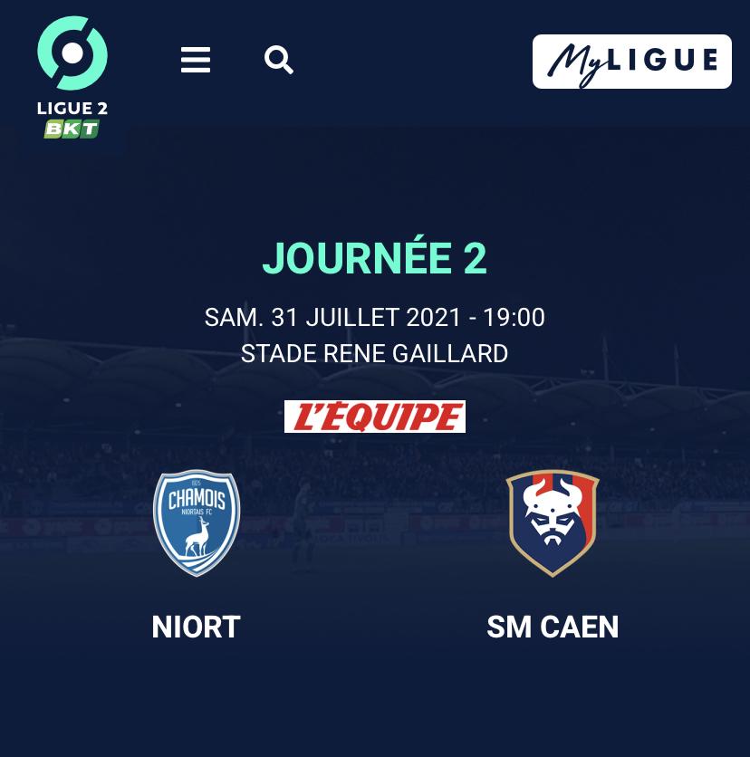[2e journée Ligue 2 BKT] Niort - SM Caen B8caf410