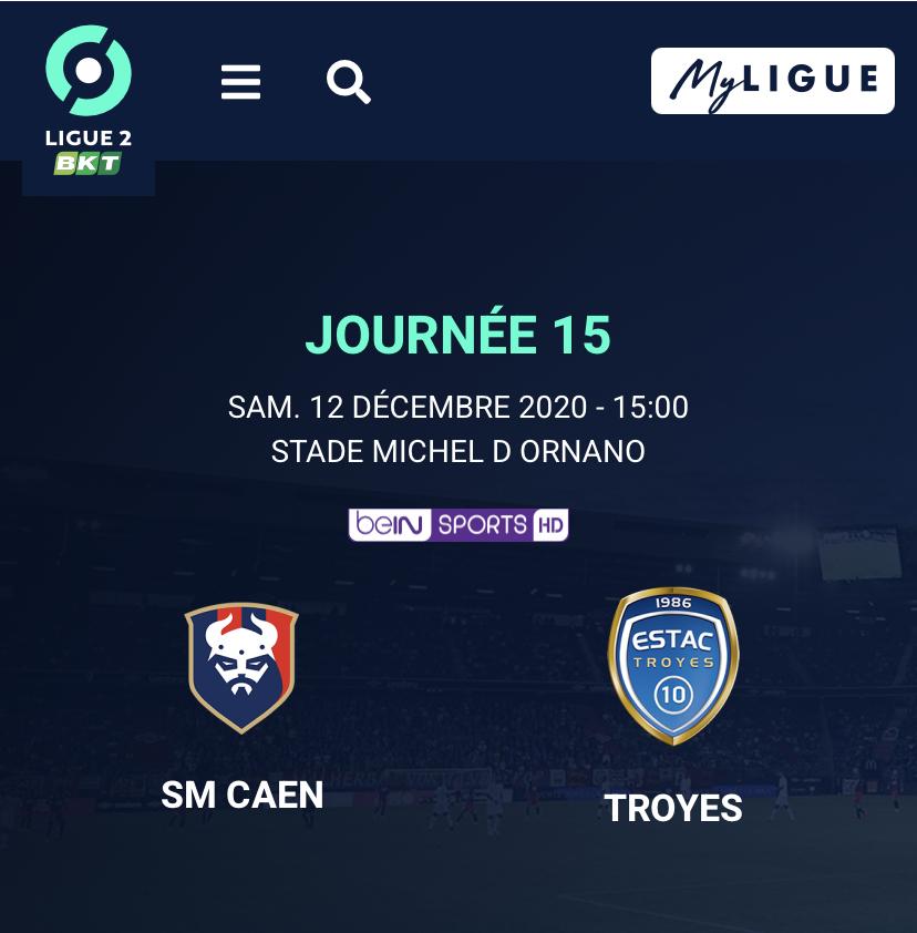 [15e journée de L2] SMCaen - ES Troyes Bfd01210