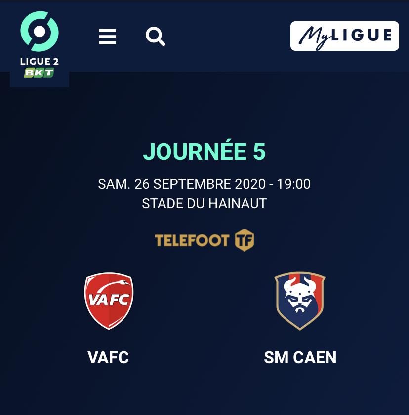 [5e journée de L2] Valenciennes FC - SM Caen C556a410