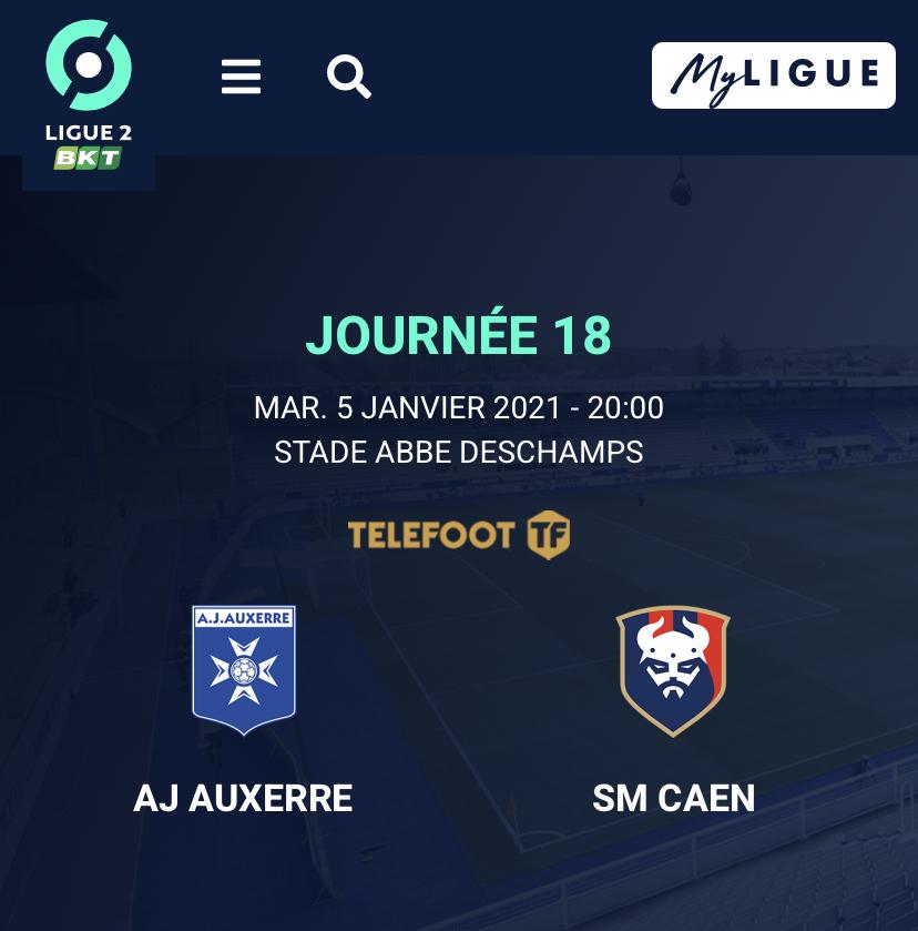 [18e journée de L2] AJ Auxerre - SM Caen Cd703910