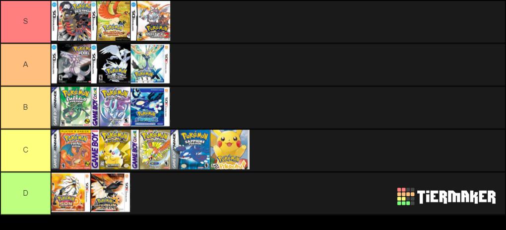 [Discusion] Ranking de juegos de Pokémon de la saga principal My-ima10