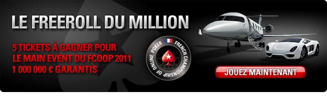 LE FREEROLL DU MILLION Millio10