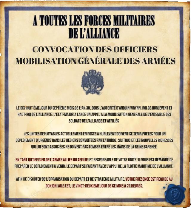 Proclamation de l'Etat-Major : Appel aux armes Mobi-o11