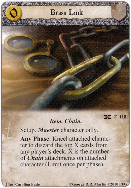 Chaine d'acolite , autres chaines et mise en place Brass-10