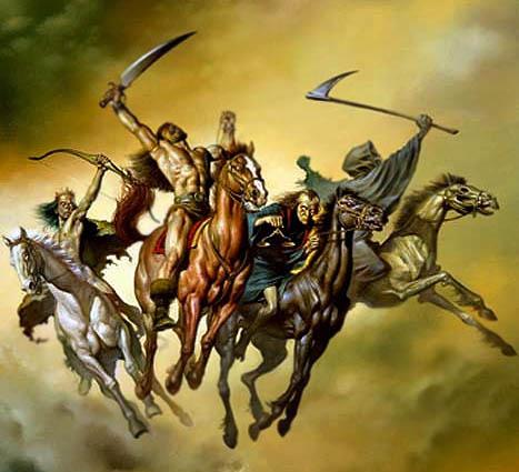 Les Cavaliers de l'Apocalypse dans la Bible Les-qu11