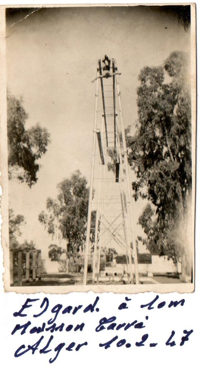 ROUSSEAU Edgard mon père  edgard  en algérie du 1er mai 1946 au 10 juin 1948 Alger_11