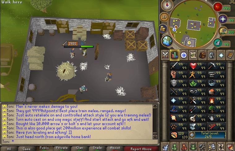 Easy And Fastest Way Train combat Skills To 99's Att, Str, Def, Magic and Ranged! Edge_m10