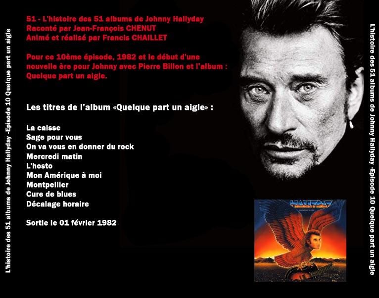 Discussions et pochettes les 51 Albums de Johnny en podcast 10_que11