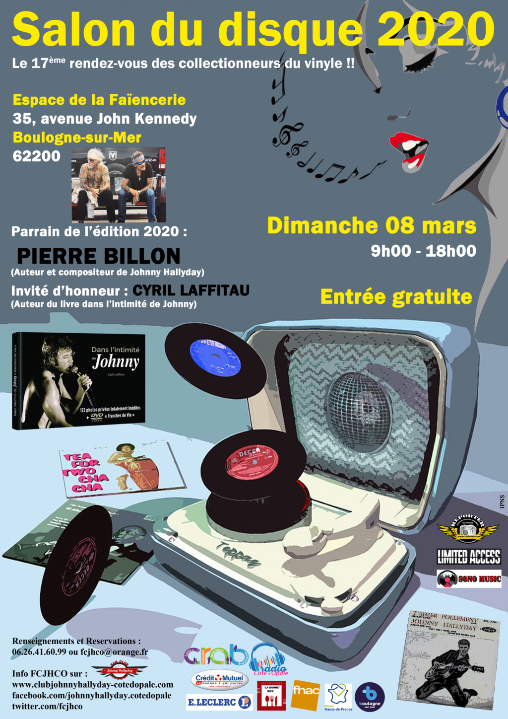Le gros week-end de mars du Fan Club Johnny Hallyday Côte d'Opale (FCJHCO) Salon_13
