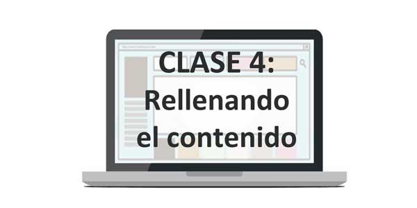 Clase 4: Rellenando el contenido