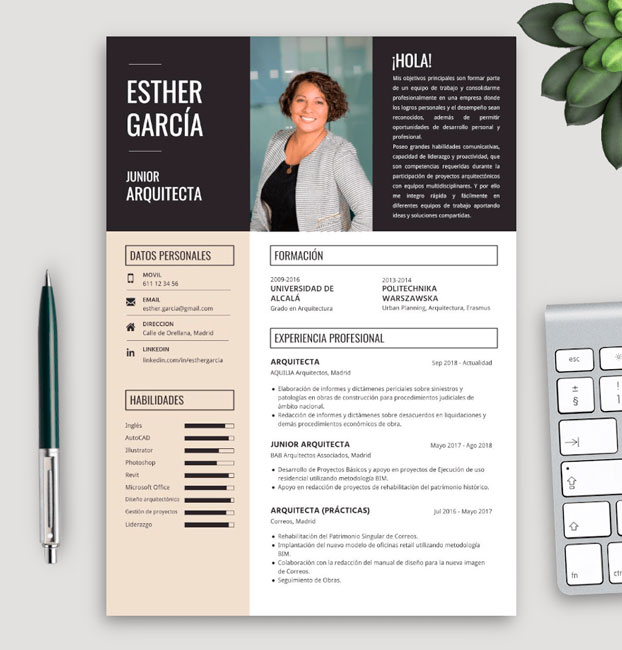currículum de arquitecto sin experiencia