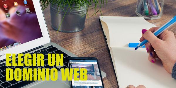 Elegir dominio web