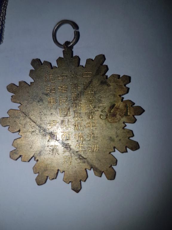 Médailles  japonaise ou chinoise ou .... 20191123