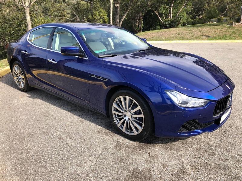 [A vendre] Maserati Ghibli S Q4 bleue intérieur sabia, carbone 12/2013, 74 mkm, 47 000 € A8917710