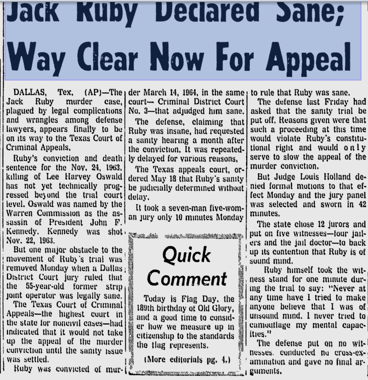 How Jack Ruby's Entry Could Have Been Coordinated 112