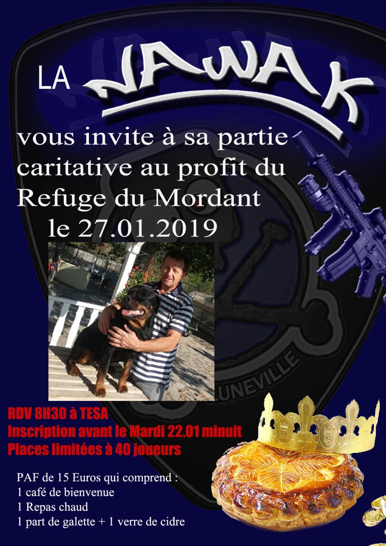 Partie caritative Galette 27/01/2019 Flyerg12