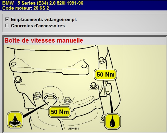 Fuite huile BV manuelle m50b20 23-10-10