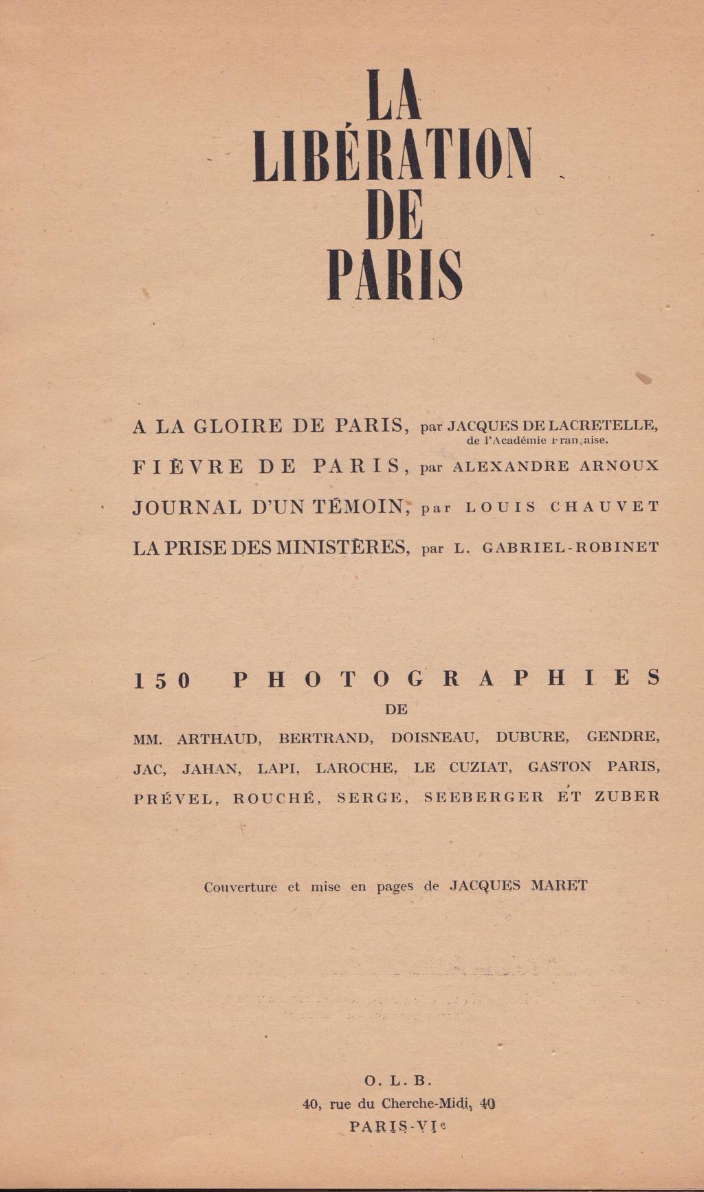 la libération de Paris 150 Photographies Libera19