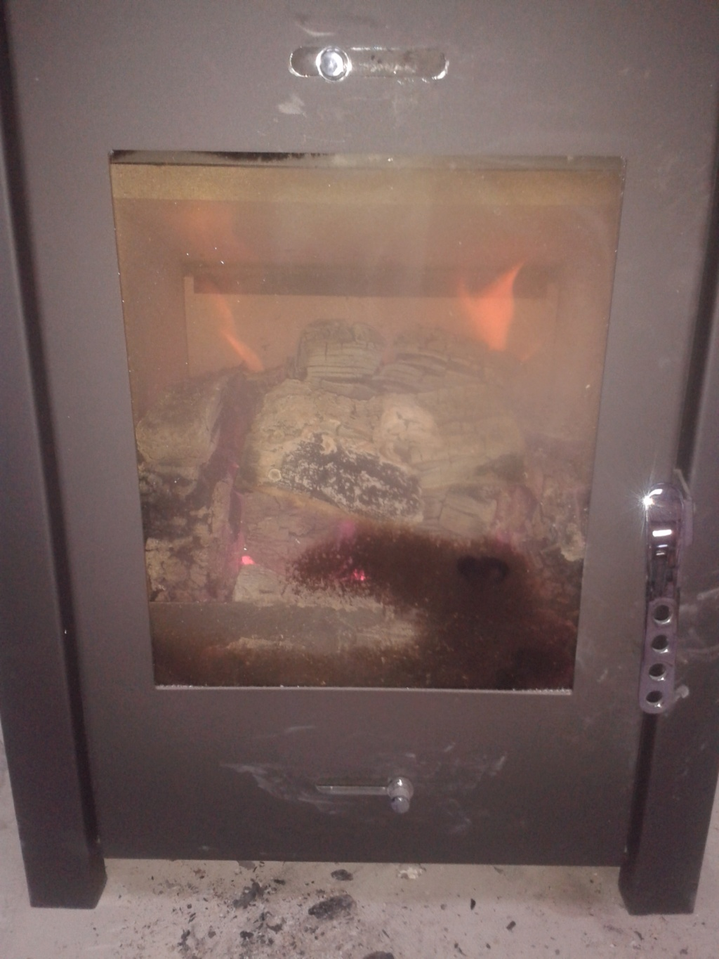 Clarke glass-door box stove to rocket stove 20181011