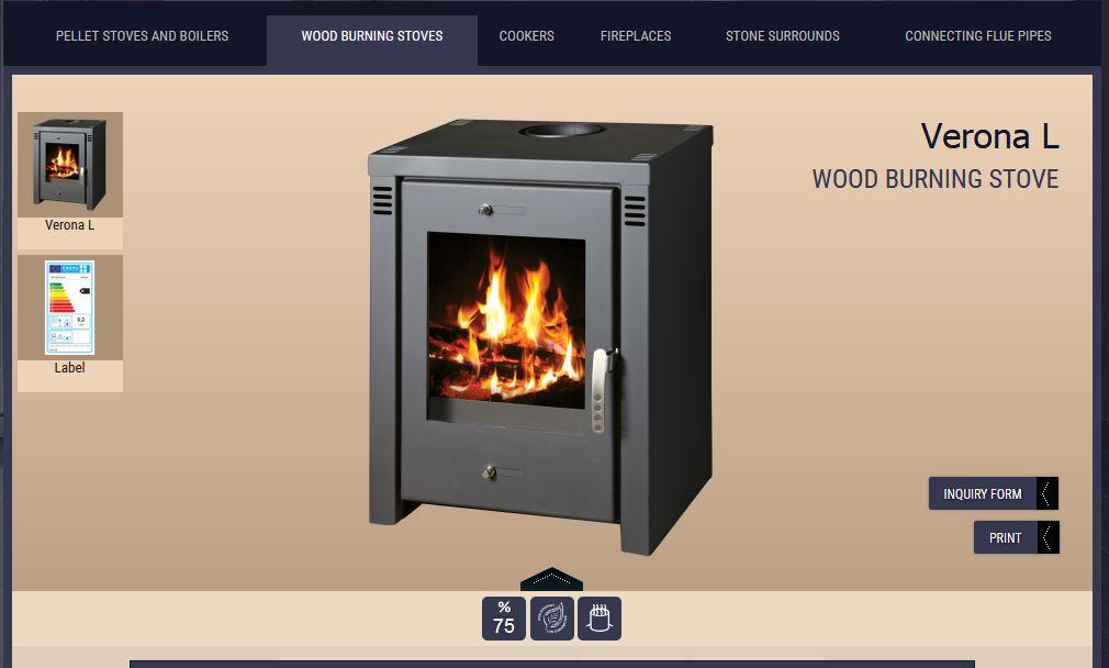 new wood stove rocket stove built inside of it  Verona10