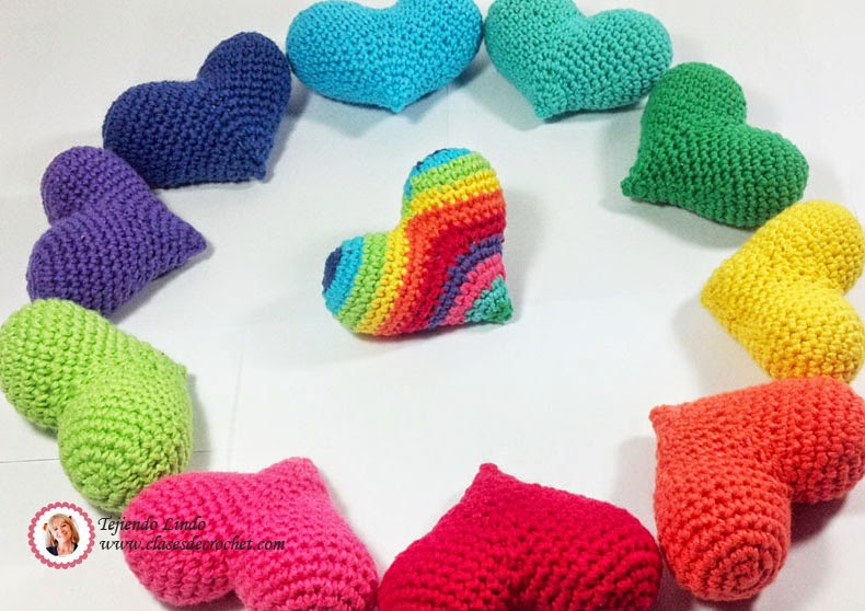 Corazones crochet para celebrar el amor 122