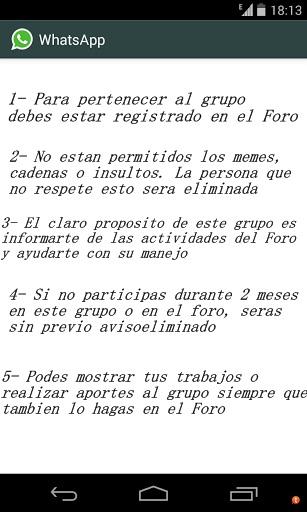 Grupo de Whatsapp de CrearteManualidades Pautas14