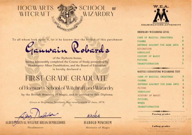 Archives du Ministère de la Magie - Annexe au dossier n°27R491 - ROBARDS, Gauwain Hogwar13