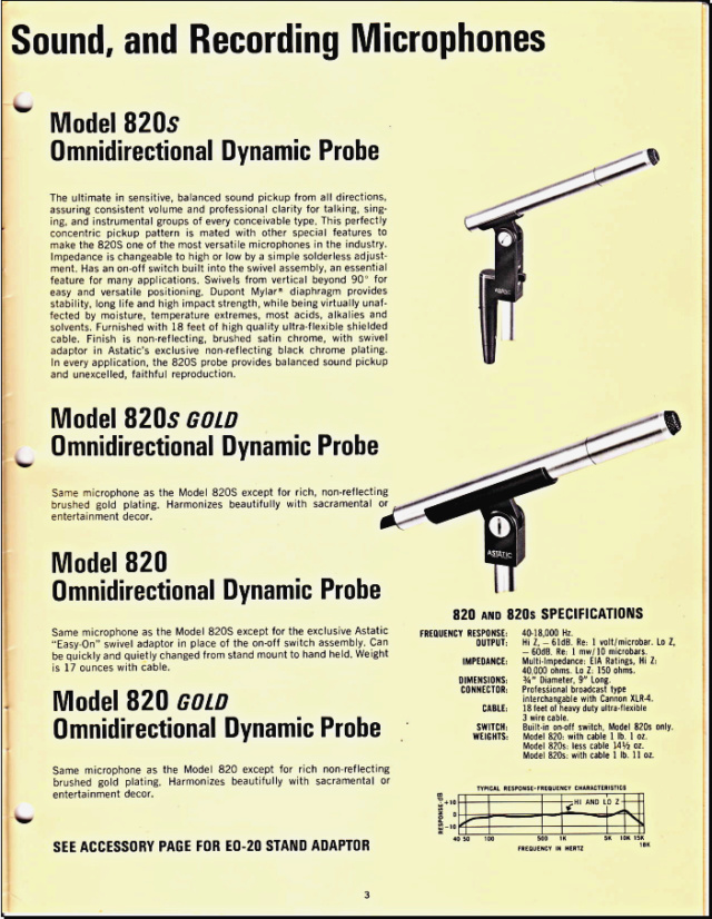 Astatic Microphones (Catalogue) 0355