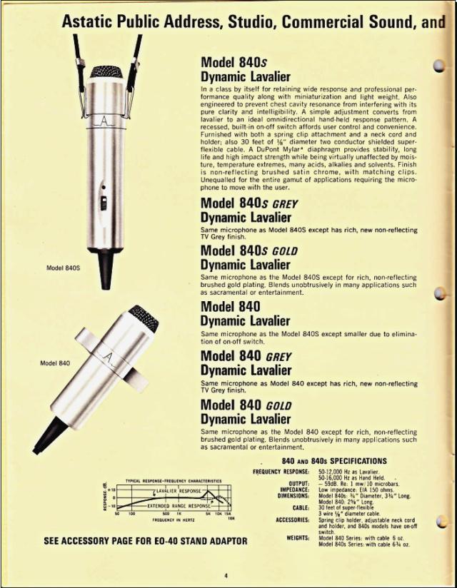 Astatic Microphones (Catalogue) 0446