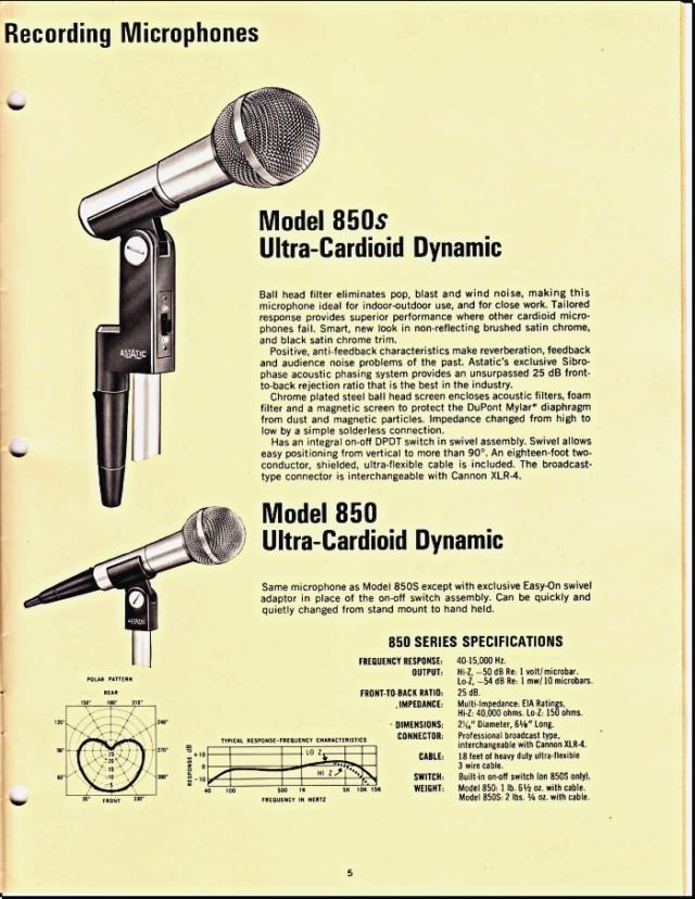 Astatic Microphones (Catalogue) 0541