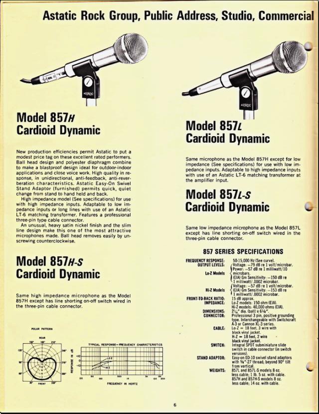 Astatic Microphones (Catalogue) 0632