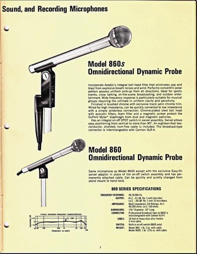 Astatic Microphones (Catalogue) 0733