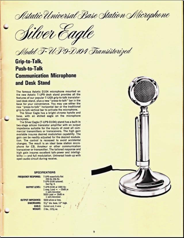 Astatic Microphones (Catalogue) 0922